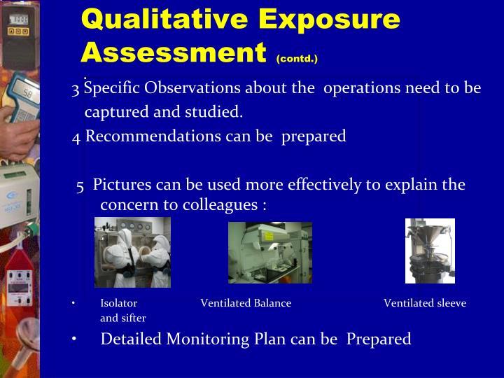 Qualitative Exposure Assessment