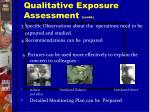 qualitative exposure assessment contd