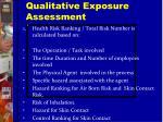 qualitative exposure assessment1