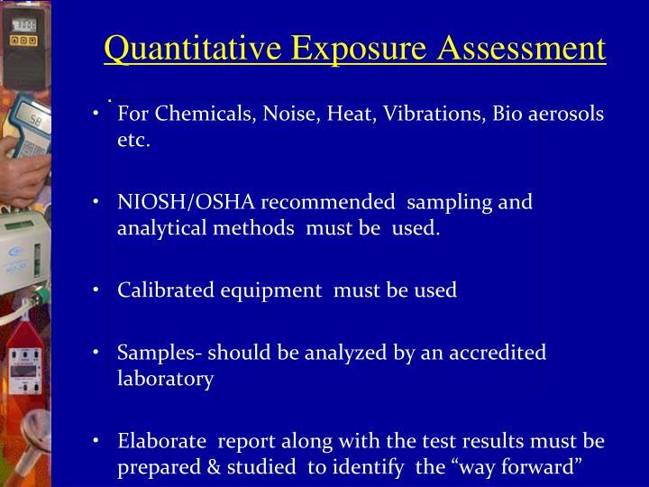 Quantitative Exposure Assessment