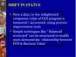shift in status