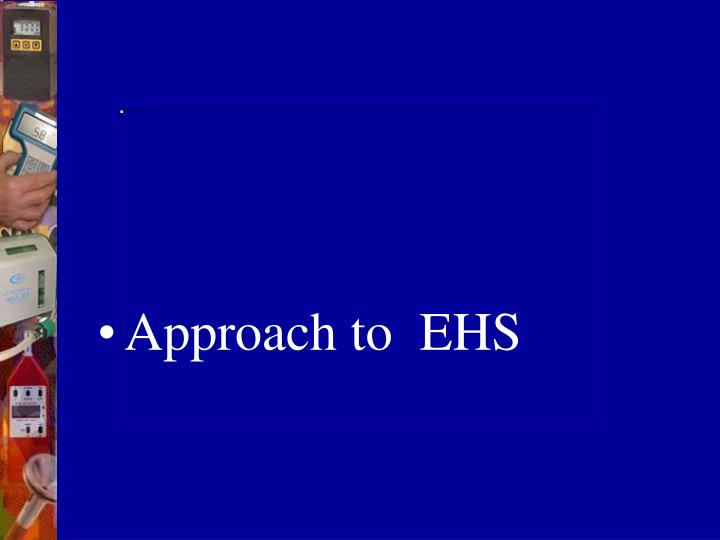 Approach to  EHS