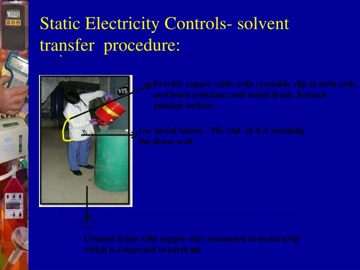Static Electricity Controls- solvent transfer  procedure: