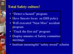 total safety culture