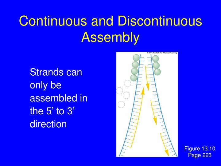 Continuous and Discontinuous Assembly