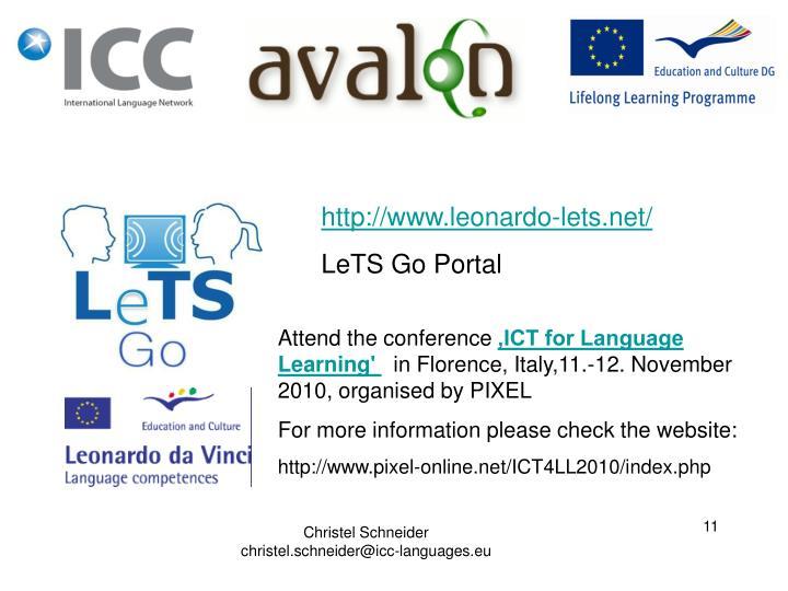 http://www.leonardo-lets.net/