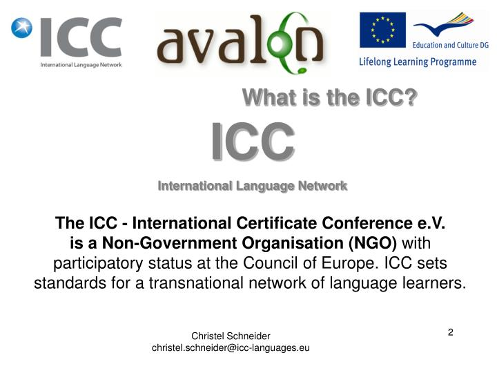 What is the ICC?