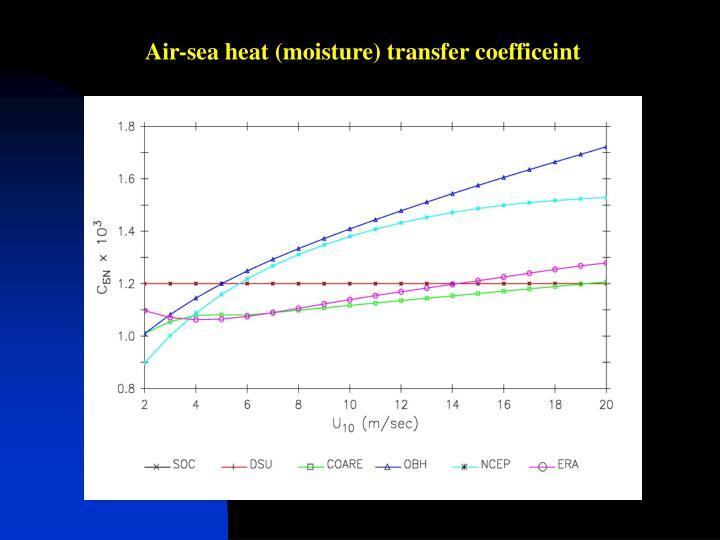 Air-sea heat (moisture) transfer coefficeint