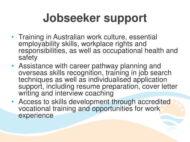 Jobseeker support