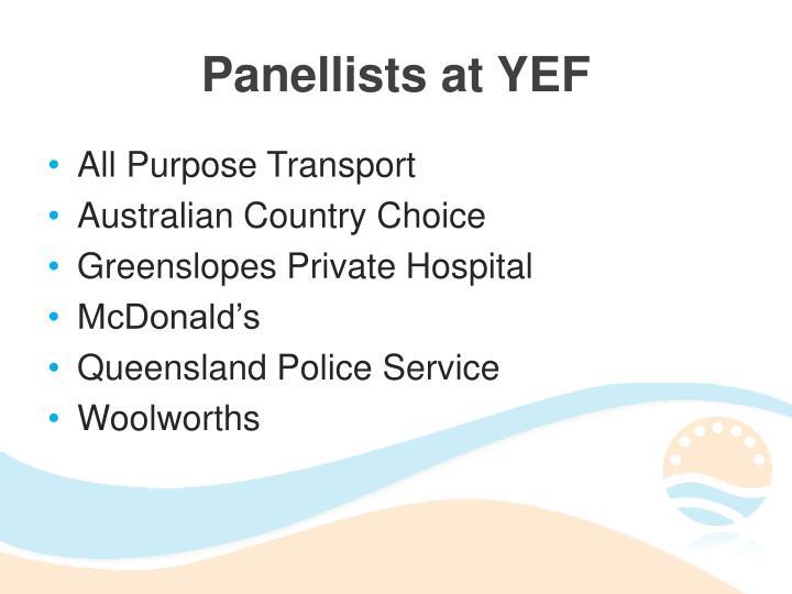 Panellists at YEF