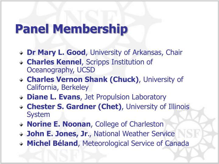 Panel Membership