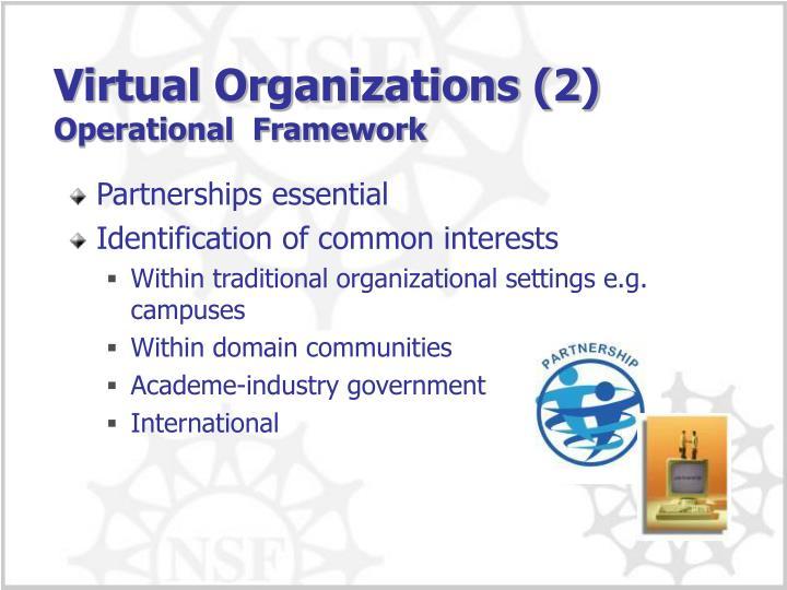 Virtual Organizations (2)