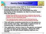 gantry data base ogp