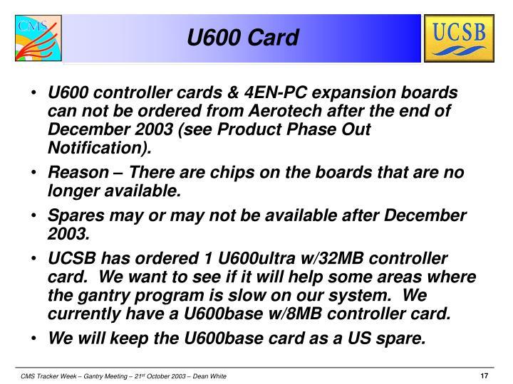 U600 Card