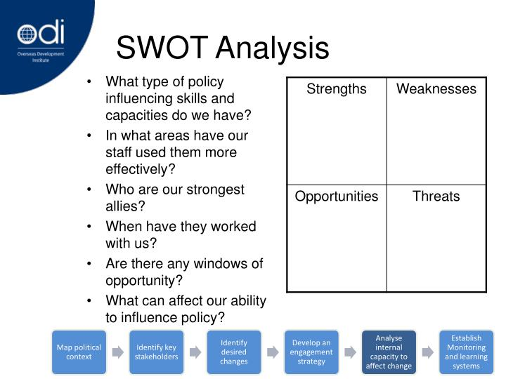 What type of policy influencing skills and capacities do we have?