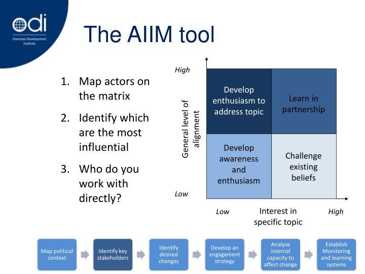 The AIIM tool