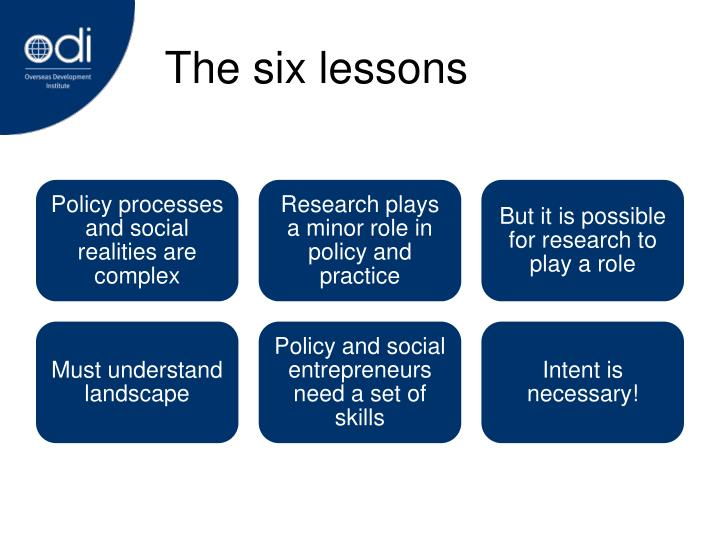 The six lessons