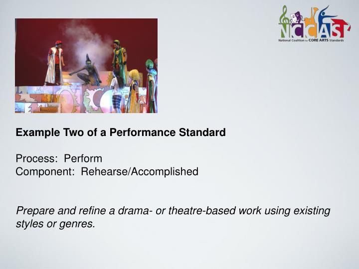 Example Two of a Performance Standard