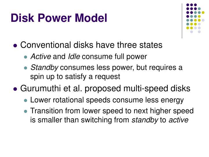 Disk Power Model