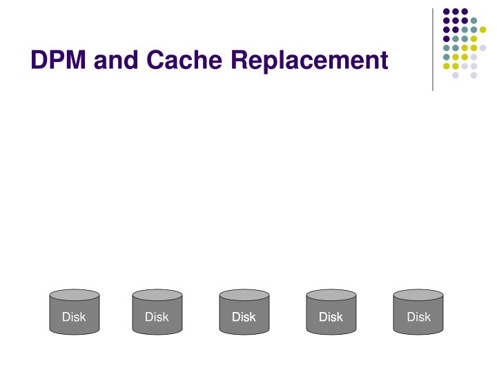 DPM and Cache Replacement