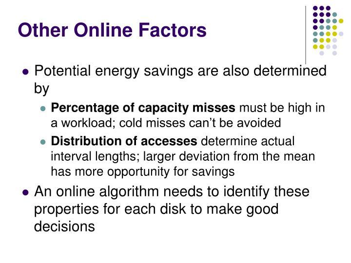 Other Online Factors