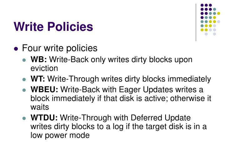 Write Policies