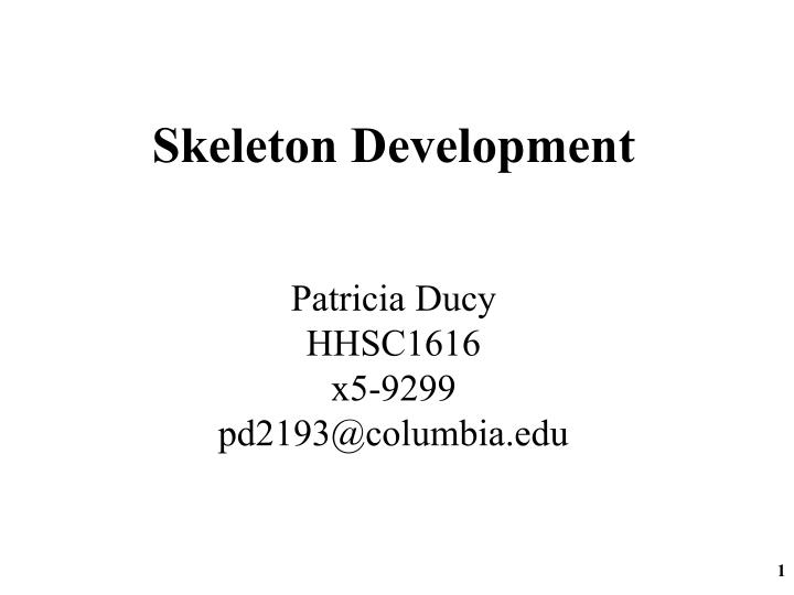 Skeleton Development
