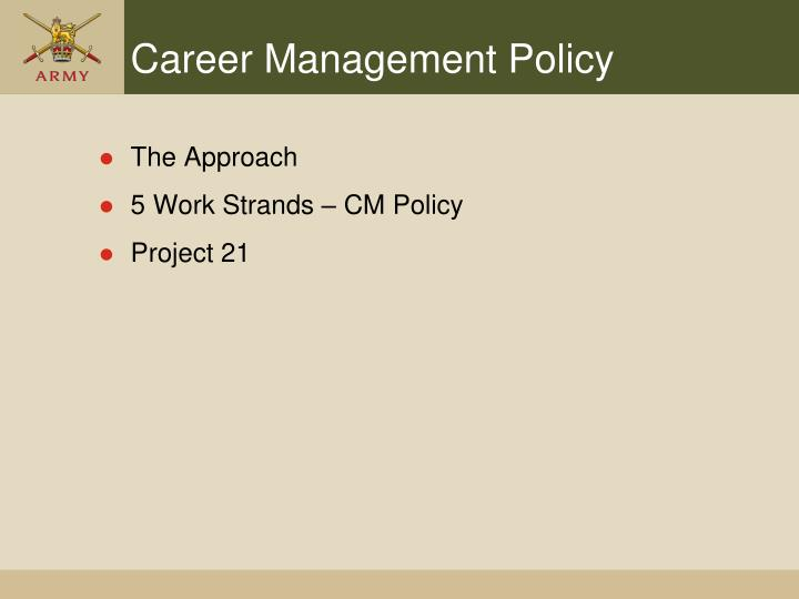 Career Management Policy