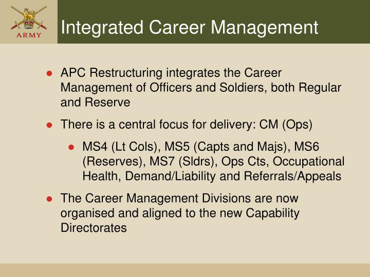 Integrated Career Management