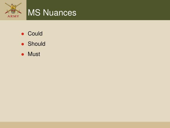MS Nuances
