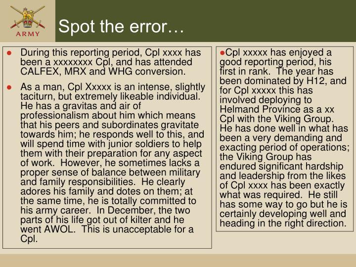 Spot the error…