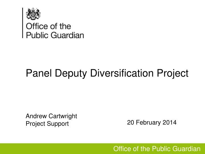 panel deputy diversification project