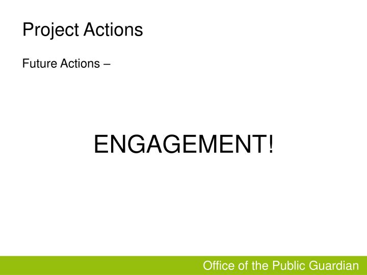 Project Actions