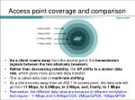 access point coverage and comparison