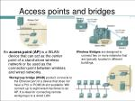 access points and bridges