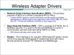 wireless adapter drivers