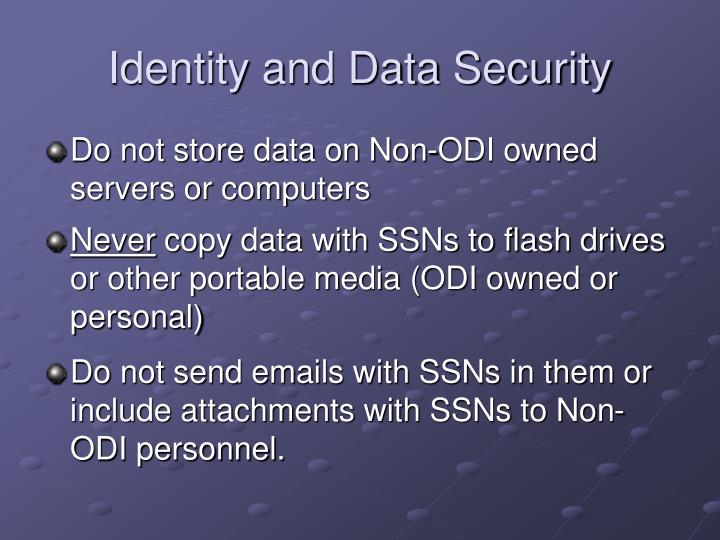 Identity and Data Security