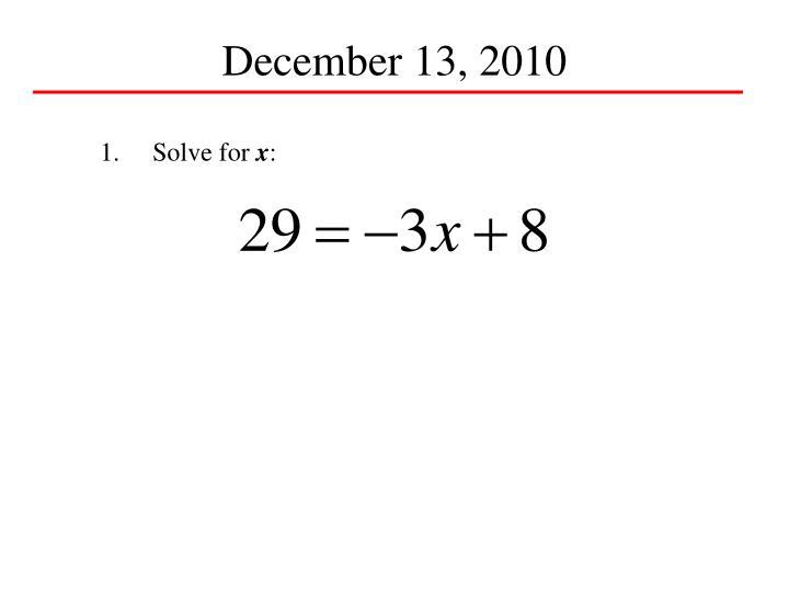 December 13, 2010