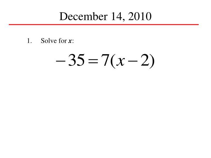 December 14, 2010