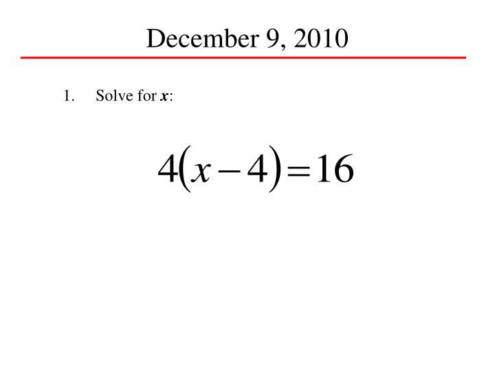 December 9, 2010
