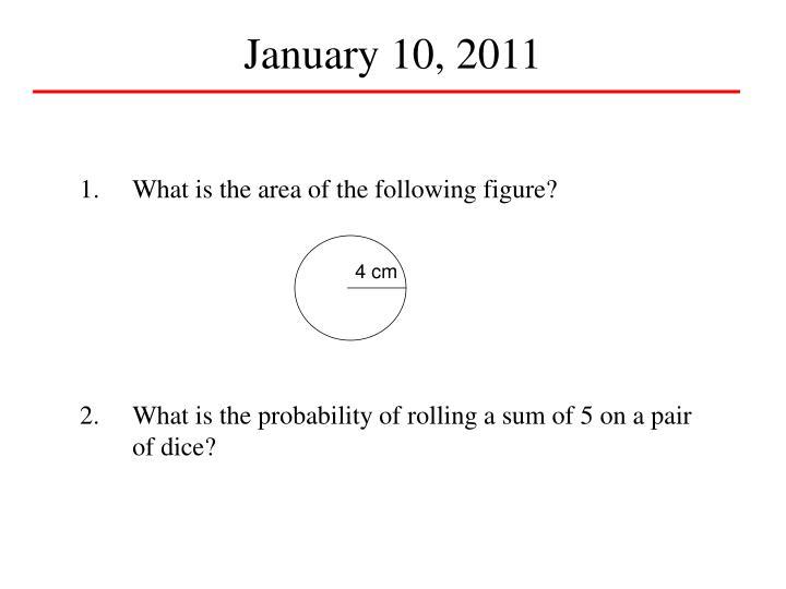 January 10, 2011