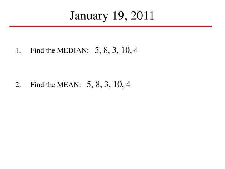 January 19, 2011