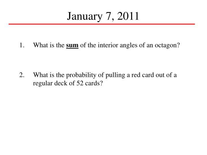 January 7, 2011