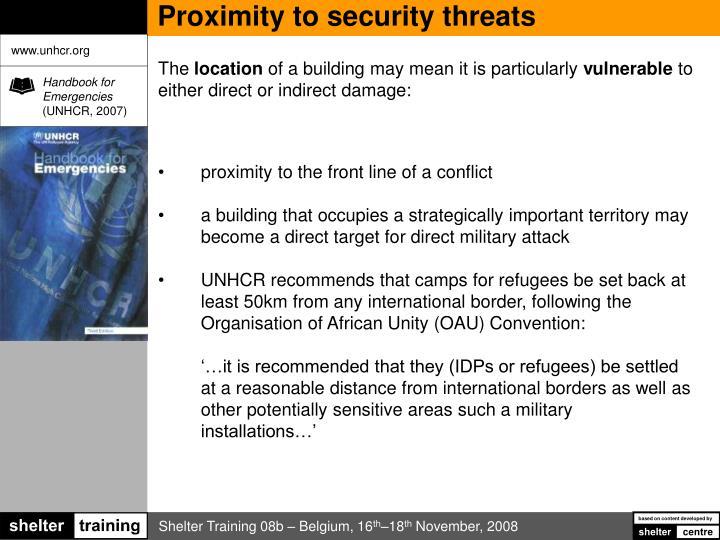 Proximity to security threats