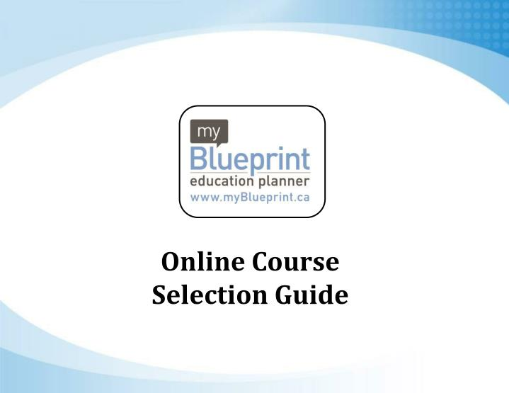 Online Course Selection Guide