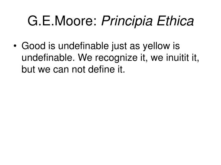 G.E.Moore: