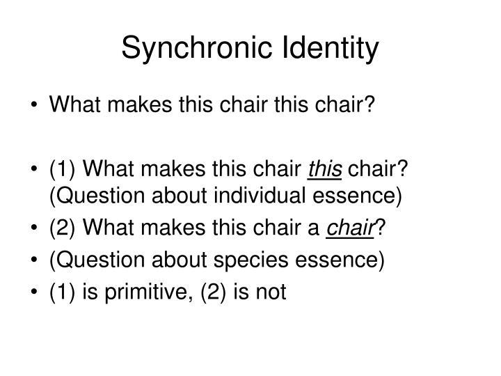 Synchronic Identity