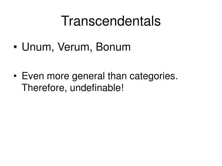 Transcendentals