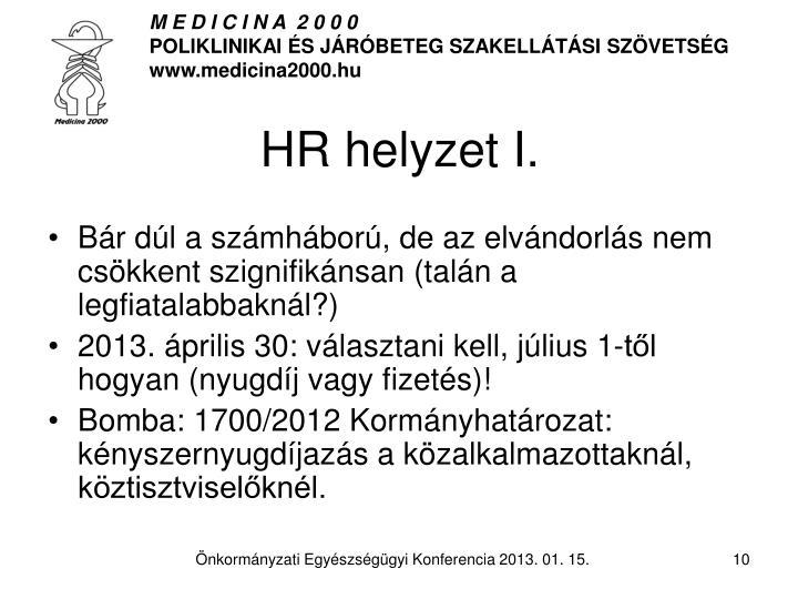 HR helyzet I.