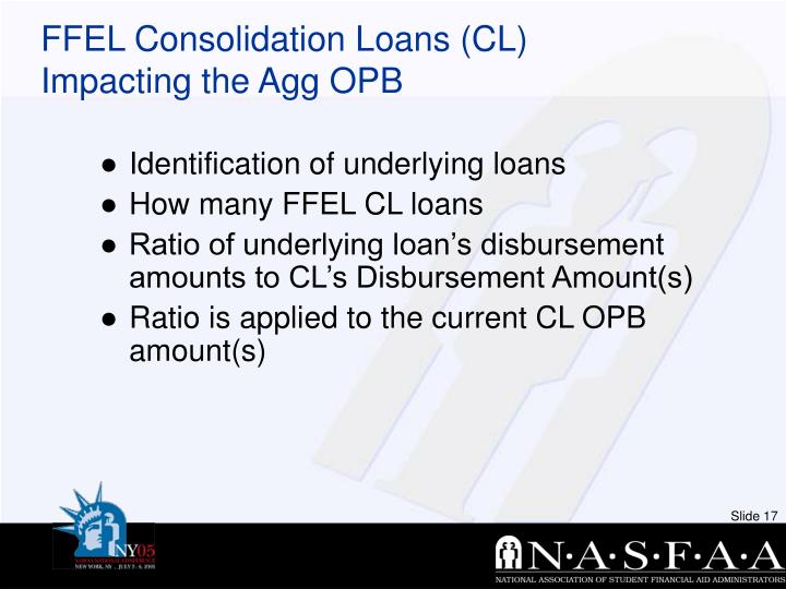 FFEL Consolidation Loans (CL)